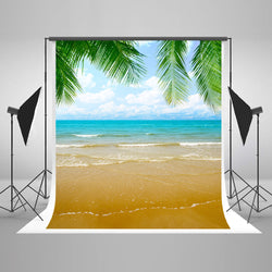 LIFE MAGIC BOX Seamless Wrinkle-free Polyester Washable Cloth Backdrops Ocean And Beach Backdrop