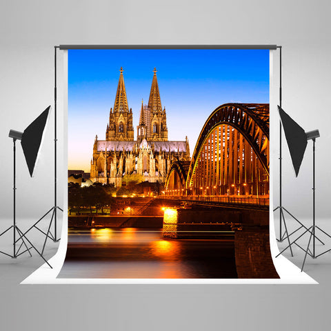 Life Magic Box Seamless Wrinkle-Free Washable Camera Wedding Photography Backdrops Night Bridge