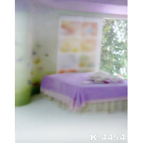 PHSFUBEL Silk Like Upgraded Material Purple Bed Background Bokeh Backdrops Family Photography
