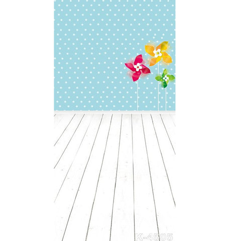 PHSFUBEL Silk Like Upgraded Material Wood Flooring Background White Backdrop Windmill Toys Backdrop