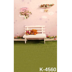 PHSFUBEL Silk Like Upgraded Material Kids Photo Backdrops Lawn Backdrops Cute Background