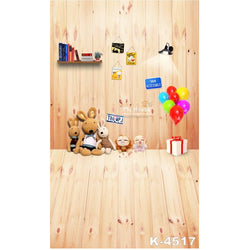 PHSFUBEL Silk Like Upgraded Material Wooden Backdrops Kids Photos Yellow Background