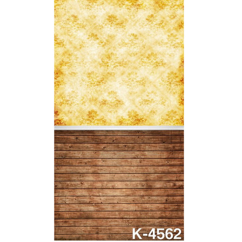 PHSFUBEL Silk Like Upgraded Material Wood Flooring Backdrop Tan Background Backdrops For Photography