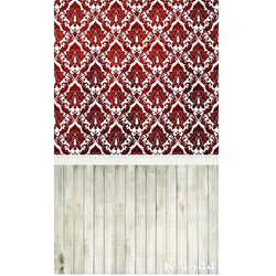 PHSFUBEL Silk Like Upgraded Material Textured Backdrops Wood Flooring Backdrops Red Background
