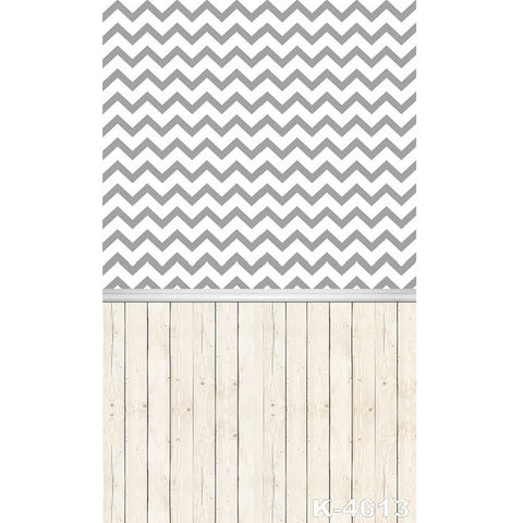 PHSFUBEL Silk Like Upgraded Material Gray Backdrop Wood Flooring Backdrop Stripes Pattern Background