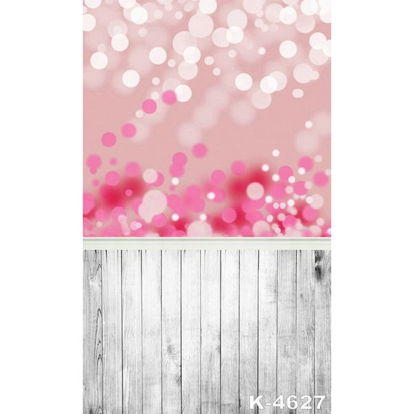PHSFUBEL Silk Like Upgraded Material Bokeh Backdrops Pink Backgrounds Gray Wood Flooring Backdrop