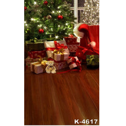 PHSFUBEL Silk Like Upgraded Material Christmas Backdrops Winter Backdrops Wood Flooring Backgrounds