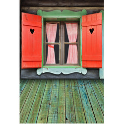 LIFE MAGIC BOX Wrinkle-free Seamless Washable Photo Backdrops Background Studio Wooden Window