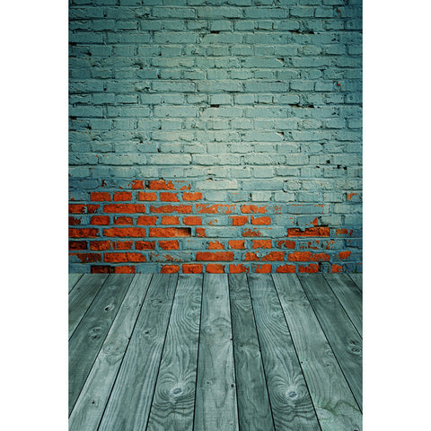 LIFE MAGIC BOX Wrinkle-free Washable Wedding Backdrops Green Brick Wall Background Backdrop Brick