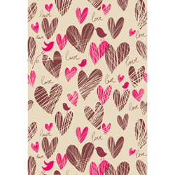 LIFE MAGIC BOX Wrinkle-free Seamless Washable Code Background Love Heart Birds Photo Backdrops