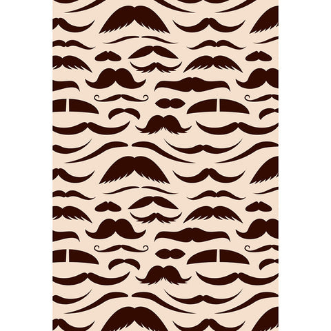 LIFE MAGIC BOX Wrinkle-free Seamless Washable Moustache Backdrop Party Photobooth Background