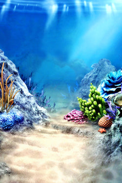 LIFE MAGIC BOX Wrinkle-free Washable Under The Water Backdrop Under Sea Backdrop Aquarium Background