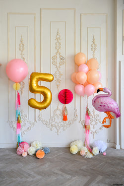 LIFE MAGIC BOX Wrinkle-free Washable 5th Birthday Anniversary Photo Backdrops Balloon Background