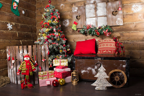 LIFE MAGIC BOX Wrinkle-free Washable Seamless Winter Photo Background Christmas Photo Booth Backdrop
