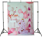 LIFE MAGIC BOX Wrinkle-free Seamless Washable Birthday Background First Birthday Photo Backdrop