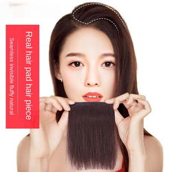Real Human Hair Pad Invisible Fluffy Mini Top Wig True Hair Piece Head Wigs Patch Female Women Girls Thickening Increase In Hair Volume