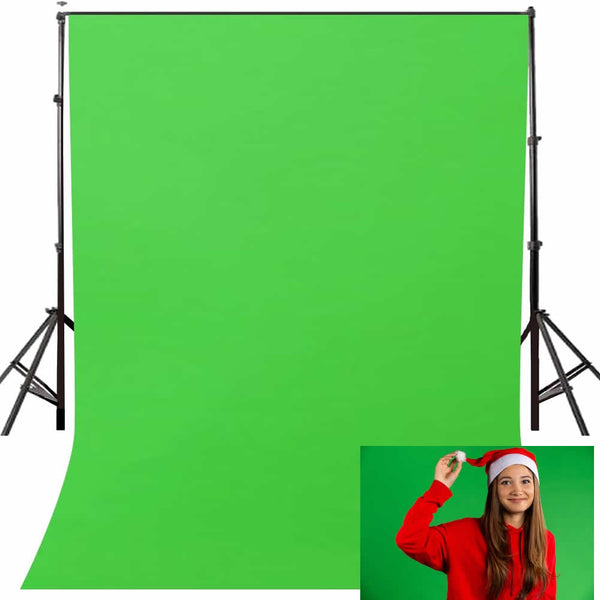 Background  Green Screen 5x7ft Vinyl Solid Color Studio Photography Props Photo Backdrop Chroma key