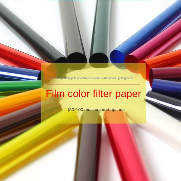 80x100cm Filter Paper Film Television Color Paper Stage Photography Soft Light Temperature Photo Props Shadow Dance Shooting Background
