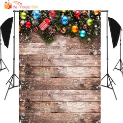 5X7FT Wood Wall Christmas Snowflake Xmas Rustic Barn Photography Backdrop Holiday  Photo Studio Portrait Props Vintage Background