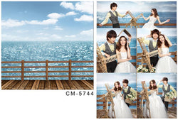 Photography Background Wooden Sea Backdrops For Studio Cm-5744