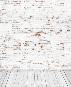 Photo Studio Backgrounds Backdrops 300Cm 200Cm  Wood Brick Gradient Photo Background Cm-5684