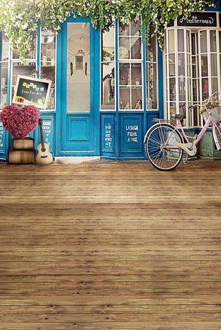Photography Background Studio Backdrop Fabric Backdrops Wood Floors Doors Windows Before Have Bikes