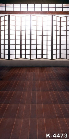Photography Backgroundphotography Backdropclothbackdrops 220Cm * 150Cmbrown Wooden Floors, Lattice Windows