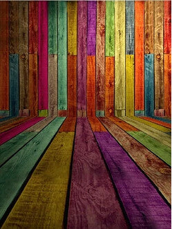 Photography Backdrops Colorful Wooden Wall Bars Background Fz1 Photo Studio Mh-44