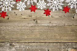 LIFE MAGIC BOX Vinyl Wood Photo Backdrops for Christmas Snowflake Wooden Background