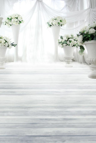 Fundo Fotografico Vinil Photography Backdrops Cloth Photo Background Bar White Wooden Floor Large Flower Bed