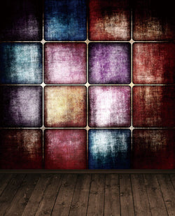5X7Ft Photography Backdrops Background Wood Flooring, Wall Plaid Cm-5340