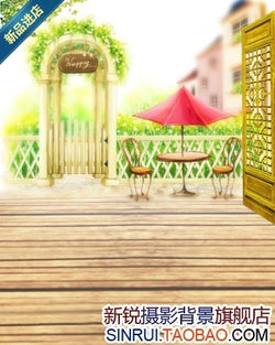 New Arrival Fresh Wooden Garden Cloth Photography Background Mini H8024