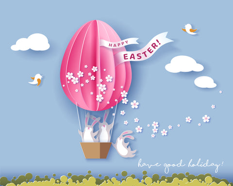 LIFE MAGIC BOX Photocall Communion Hot Air Balloon Easter Background Photo Wall