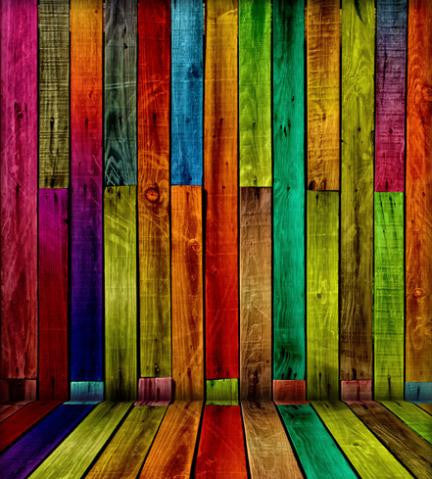 LIFE MAGIC BOX Valentine Day Backdrops Multicolor Wooden Wall Background For Studio Cm-5989