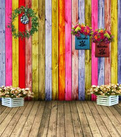Backgrounds For Photo Studio  5X7Ft   Photography Backdrops Wooden Walls Composed Of Different Colors