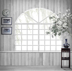 Photography Backdrop Graffiti Backdrop White Wooden Window Fan Cm15-S-446