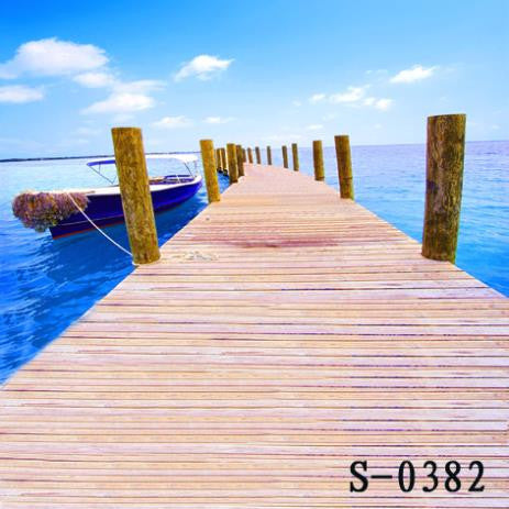 Photography Background Fundos Child Background Cloth Wooden Bridge Pier