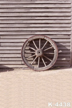 Fundo Infinito Para Fotostudio Background cloth photo Background 220Cm * 150cm wooden Wheels Against Wooden Wall
