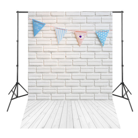 White Bricks Color Flags White Wood Board Photography Backdrops Studio Photo Background Newborn