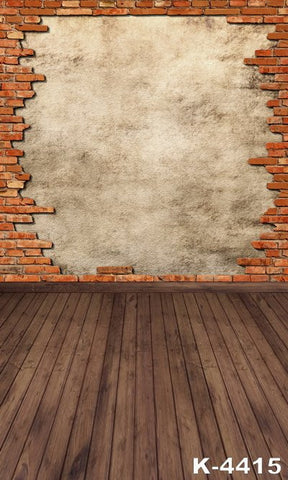 Scenic Photography Backdrops Fundo Para Fotografia Fabric Backdrops 300Cm*200Cm Wood Floor  Gray Brick Wall