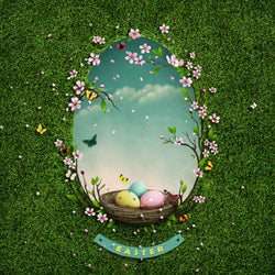 LIFE MAGIC BOX Background For Photo Flowers Easter Green Egg Wallpaper For Photo Studio