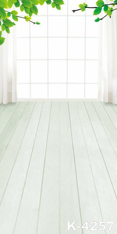 Photo Background studio Props Photography cloth backdrops white Wooden Floor The Windows Green Branches