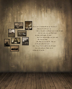300Cm*200Cm About 10Ft*6.5Ft Backgrounds Wood Floors, Gray Wall Photo Frame Cm-5272