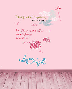 Photography Backdrops 300Cm*200Cm Pink Wood Floor, Pink Walls To Write Letters Of The Alphabet Cm-5259