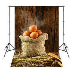 Brown Wood Board Eggs Straw Background Atrezzo Fotografia Estudio Vinil Backgrounds for Photo Studio