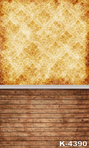 Newborn  Photographic Background Cloth Wedding Background Wood Flooring  Wall Displaying A Yellow Background
