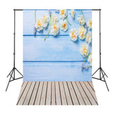 Wood Board White Flowers Photo Studio Backdrop Photography Background Camera Fotografica Digital