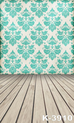 Background For Studio photo Studio Props Baby fabric backdrops 220Cm * 150Cm wood Floor Green Wall Displaying