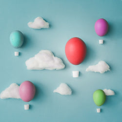 LIFE MAGIC BOX Easter Backdrop Backgrounds Color Egg White Cloud Congratulations Baby Photocall