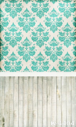 Baby Photo Studio Fundo Fotografia Cloth Wedding Background 300Cm*200Cm Wood Floors  Green Cloth Wall